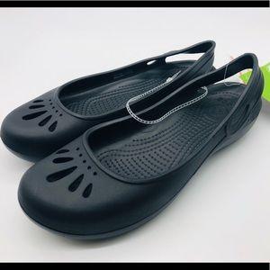 Crocs Thea Mary Janes slip ons sandals black